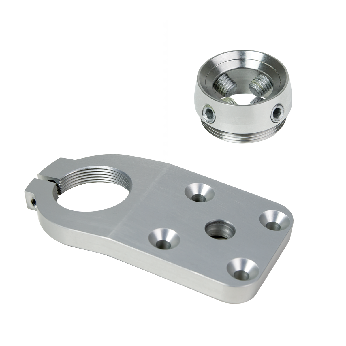 4-Hole Threaded FP, 10 deg, w/ Receiver, Rotatable, Ti