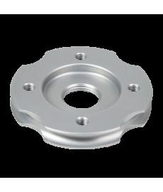 4-Hole Lamination Plate, Round, Threaded Hole, Tie Groove, Al