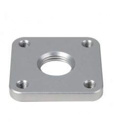 4-Hole Lamination Plate, Square, Threaded Hole, Al