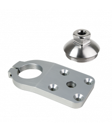 4-Hole Threaded FP, 10 deg, with Adapter w/ P-L Hole, Rotatable, SS