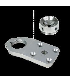 4-Hole Threaded FP, 10 deg, w/ Receiver, Rotatable, Ss